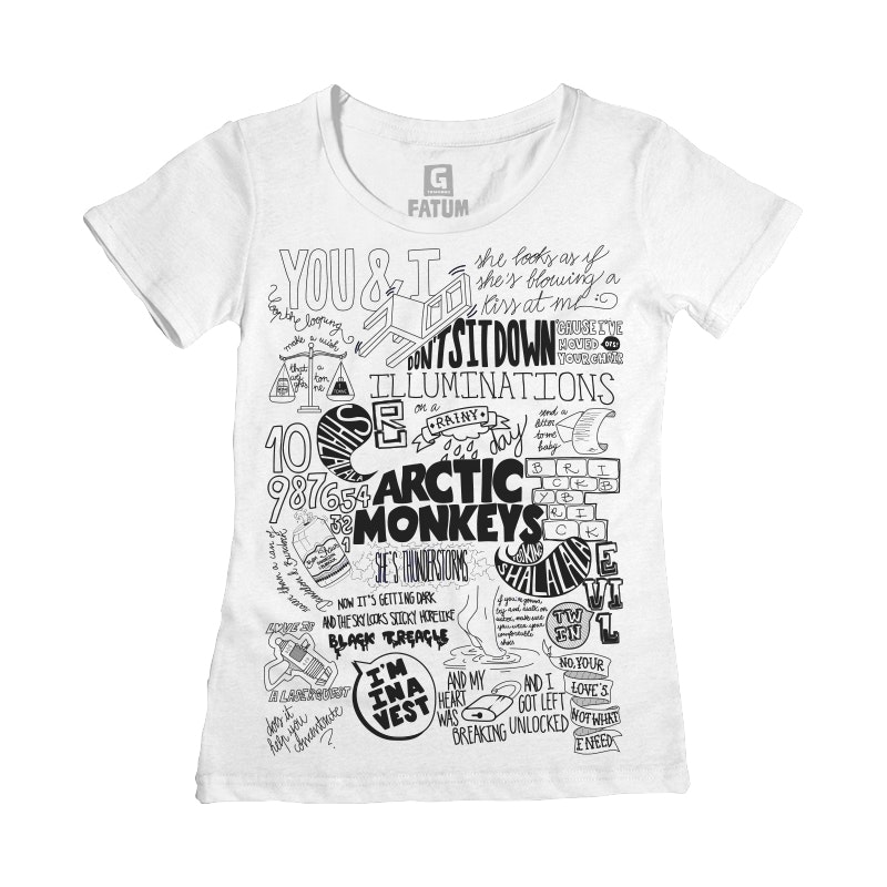 CAMISETA FEMININA ARCTIC MONKEYS