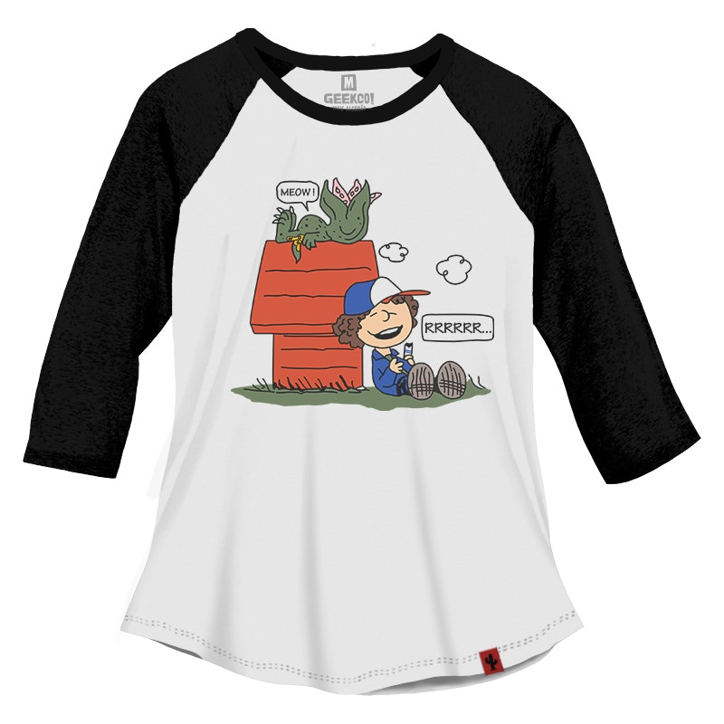 CAMISETA FEMININA RAGLAN 3/4 STRANGER THINGS